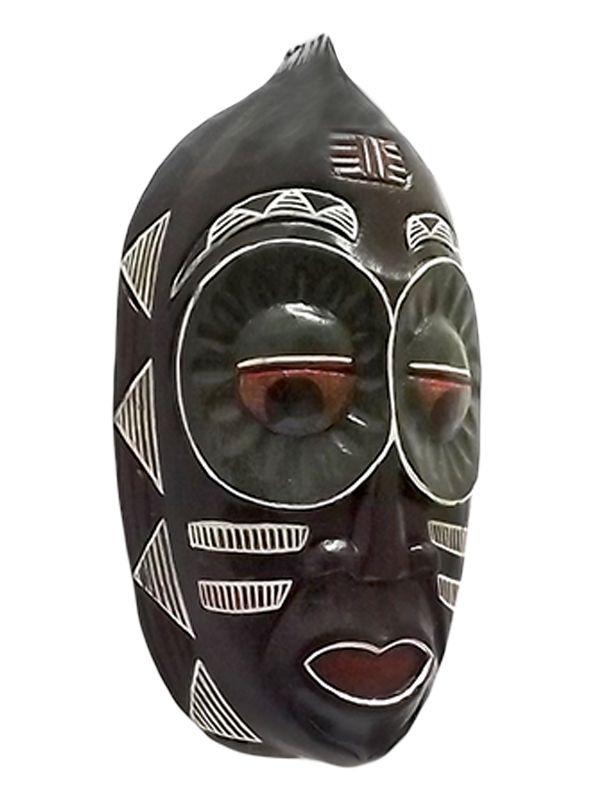 Máscara em Madeira Mbaua 30cm