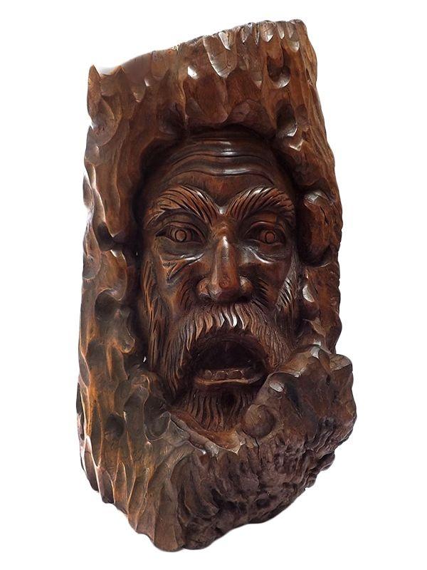 Escultura no Tronco de Madeira 50cm - Bali