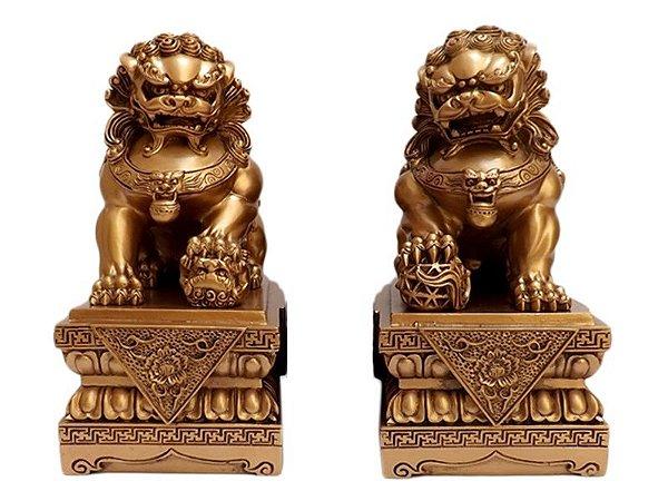 Esculturas Leões Fu Budistas - Guardiões
