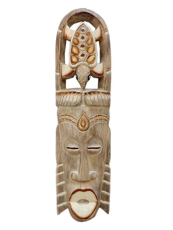 Máscara de Paredes em Madeira p/ Decoração 50cm - Bali