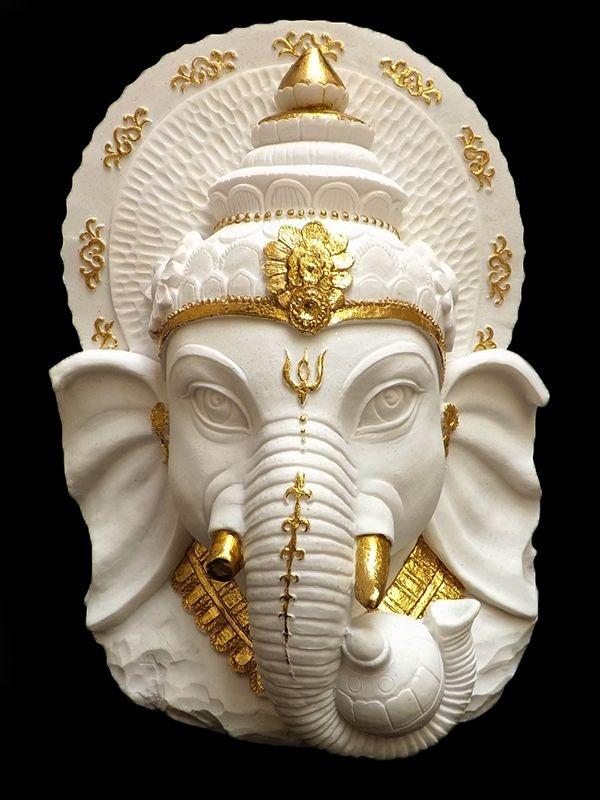 Escultura Busto de Ganesha 30cm