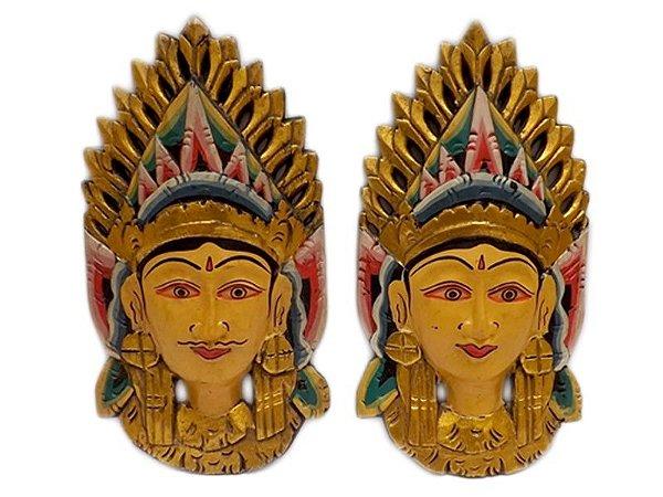 Máscaras Casal Penapatã (Rama e Sita) - Arte Bali