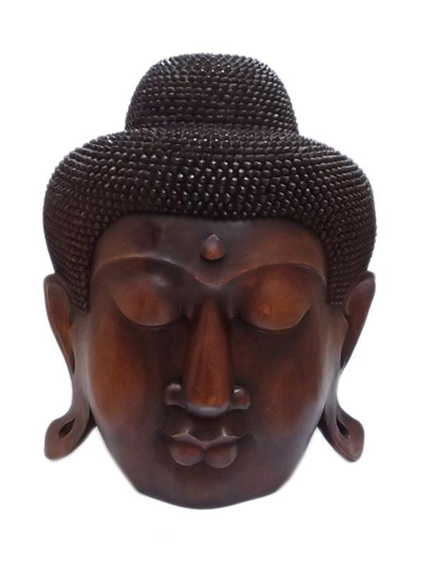 Cabeça de Buda Grande em Madeira 60cm - Bali