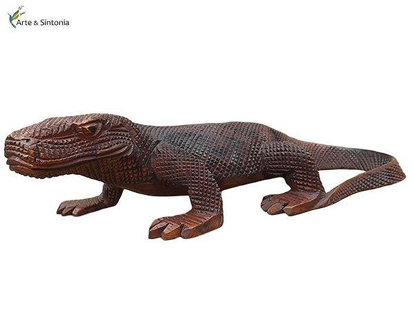 Escultura Dragão de Komodo Bali 42cm