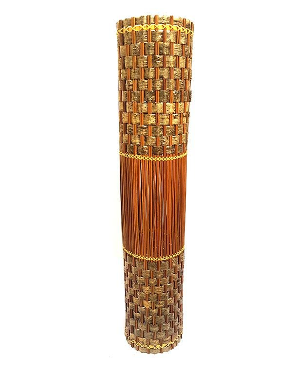 Abajur em Coluna de Fibra Natural 100cm