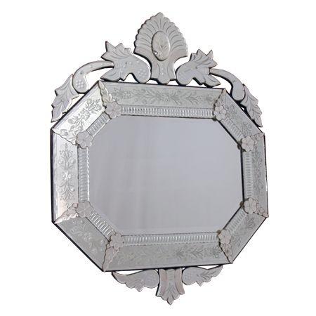 Espelho Veneziano Oitavado p/ Decoração 95cm
