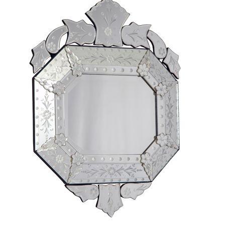 Espelho Decorativo Oitavado 70x50cm - Estilo Veneziano