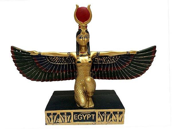 Escultura Egípcia Ísis em Resina - Deusa do Amor