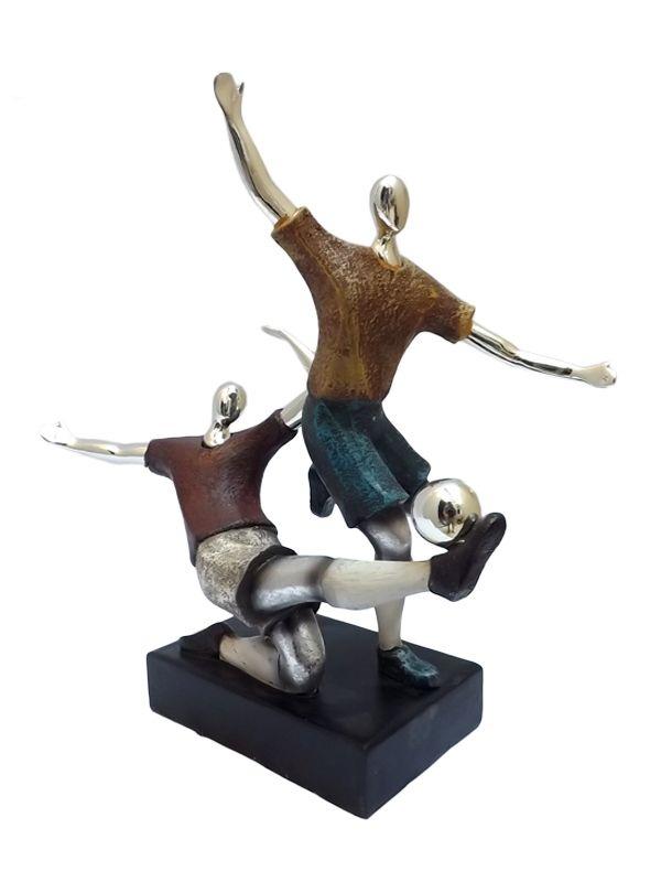 Escultura de Futebol em Resina 32cm