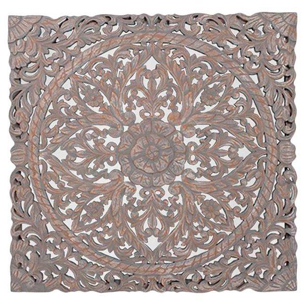 Mandala Indiana em Madeira 95x95cm