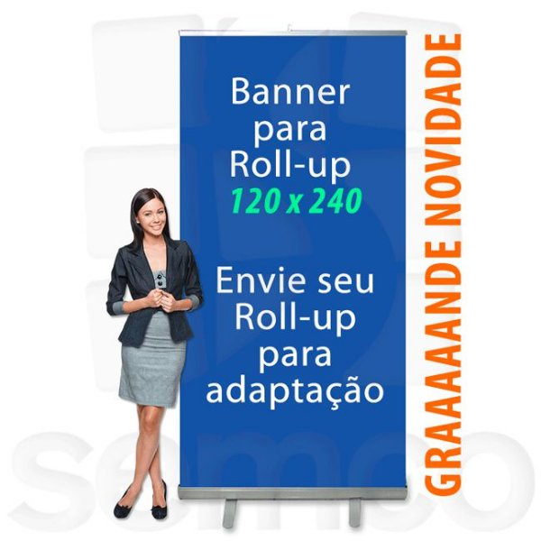 Banner para Suporte Roll Up 120x240