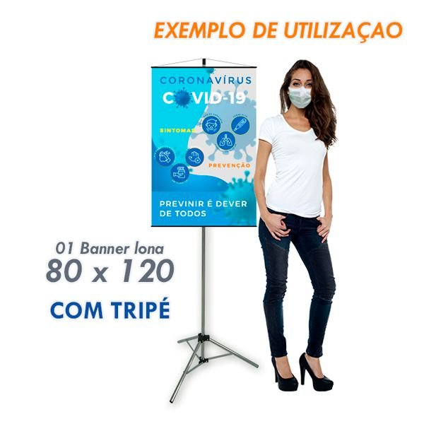 Banner Informativo Prevenção (80 x 120)