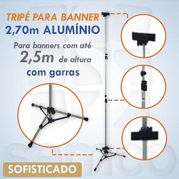 Tripé para Banner 2,70m - ALUMÍNIO