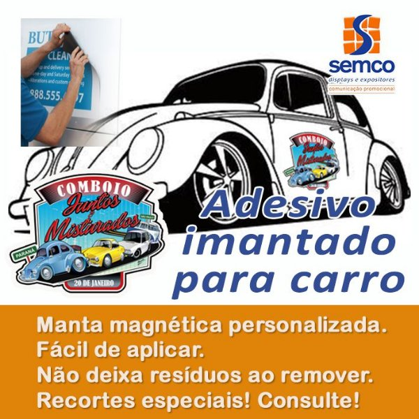 Adesivos Magnéticos para porta de carro (2 un)