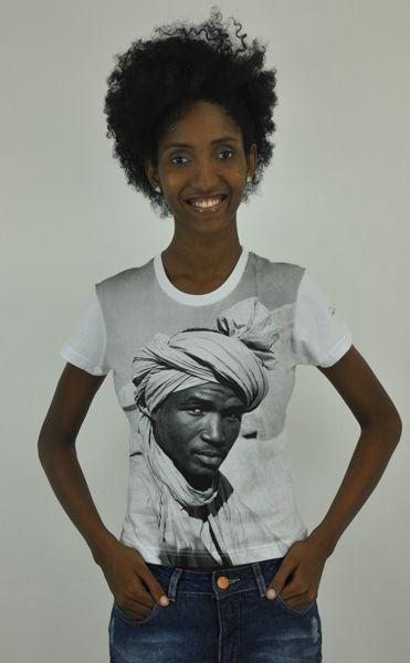 Camiseta baby look Homem de Turbante