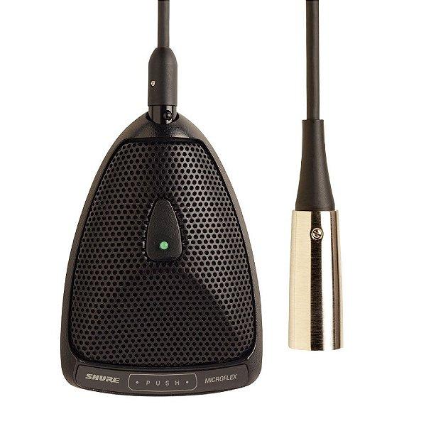 Microfone condensador de mesa com fio- MX393/O - Shure