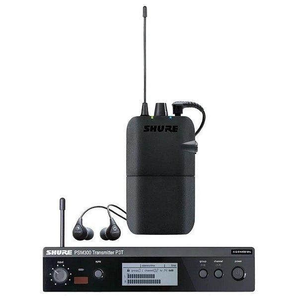 Sistema de monitoramento pessoal com dois fones e receptor PSM-300 - P3TBRR112GR-K12 - Shure