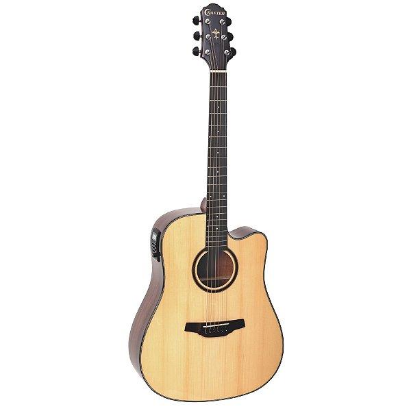 Violao Folk Cutaway T/solid Spruce B/s Mogno Eq Cr-t Nv Gloss Hd-500ce/n Crafter