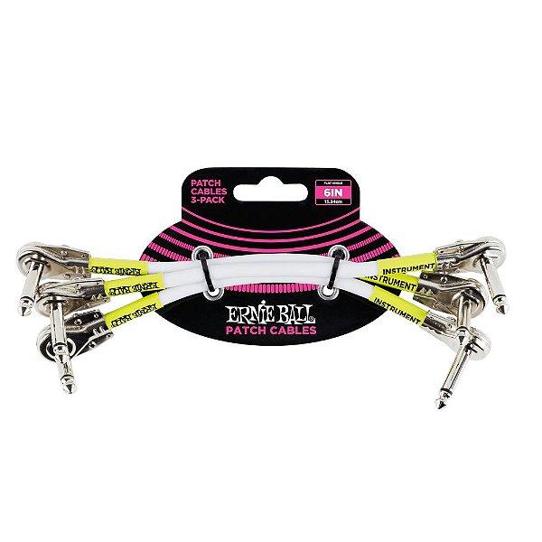 Cabo Pedal/pedal 6 (15,24 Cm) Plug Flat L/l Pct C/3 P06052 Branco Ernie Ball
