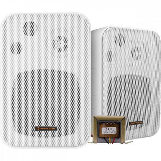 Caixa Acústica com Trafo 70V(25W) Ambience Line MSB406W Branca HAYONIK - PAR / 2