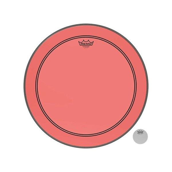 Pele P/ Bumbo 20 Pol Powerstroke 3 Colortone Transparente Vermelha P3-1320-ct-rd Remo