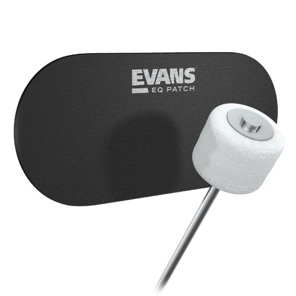 Pad Protetor Para  Pele De Bumbo EQ PATCH Pedal Duplo (X2) Evans EQPB2