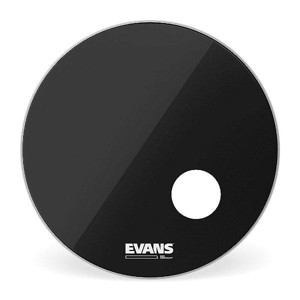 """Pele Para Bumbo Resposta EQ3 Preta 22"""" Evans BD22RB"""