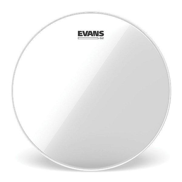 """Pele Para Caixa / Tom Genea G2 Transparente 13"""" Evans TT13G2"""