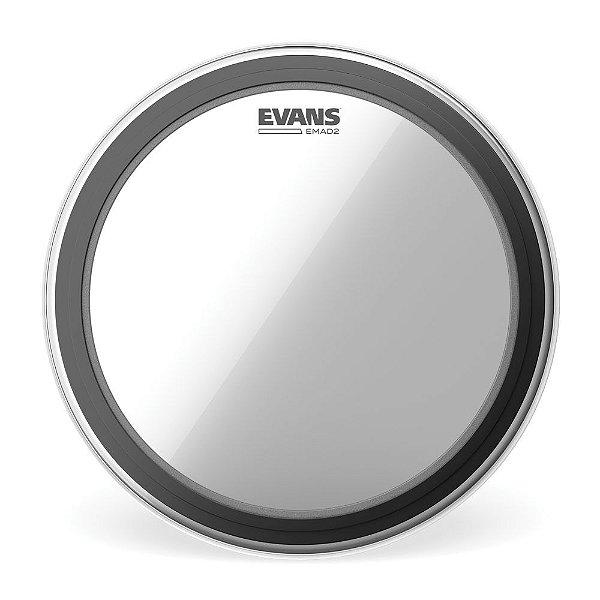 Pele Para Bumbo Emad  Transparente 18' Duplo Filme Evans BD18EMAD2