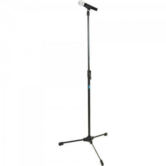 Pedestal Reto Para Microfone ideal para Estúdio TPR Preto ASK