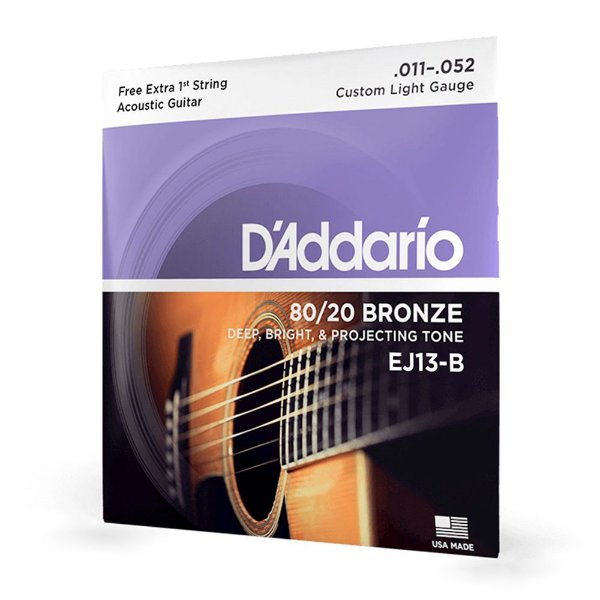 Encord Violão Aço .011 Corda Extra PL011 D'Addario EJ13-B