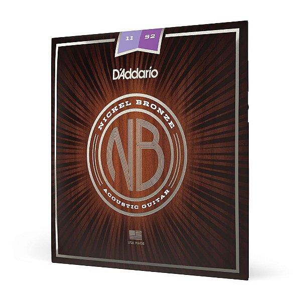 Encordoamento Violão Aço .011 D'Addario Nickel Bronze NB1152