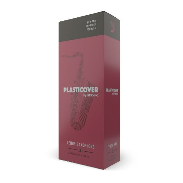 Palheta Sax Tenor 2.5 (caixa com 5) D'Addario Woodwinds Plasticover RRP05TSX250