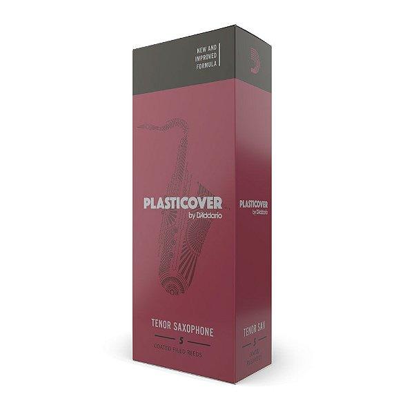 Palheta Sax Tenor 2 (caixa com 5) D'Addario Woodwinds Plasticover RRP05TSX200
