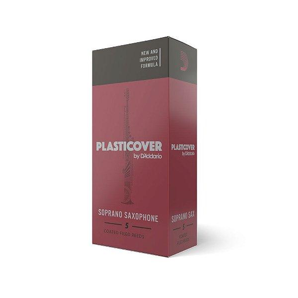 Palheta Sax Soprano 1.5 (caixa com 5) D'Addario Woodwinds Plasticover RRP05SSX150