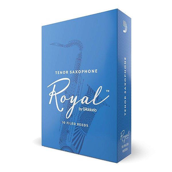 Palheta Sax Tenor 3.5 (caixa com 10) D'Addario Woodwinds Rico Royal RKB1035