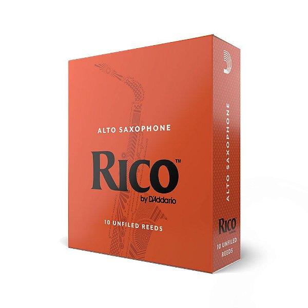 Palheta Sax Alto 2 (Caixa com 10) D'Addario Woodwinds Rico Reeds RJA1020