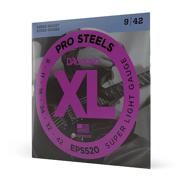 Encordoamento Guitarra .009 D'Addario XL Pro Steels EPS520