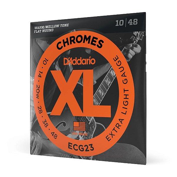 Encordoamento Guitarra \u002e010 D\u0027Addario XL Chromes ECG23