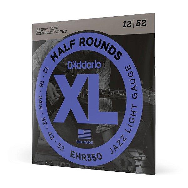 Encordoamento Guitarra .012 D'Addario Half Rounds EHR350