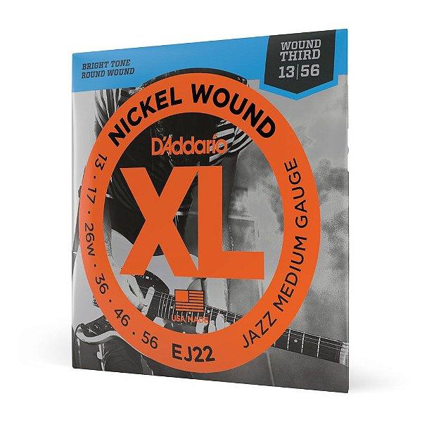 Encord Guitarra .013 3ª Encap D'Addario XL Nickel Wound EJ22