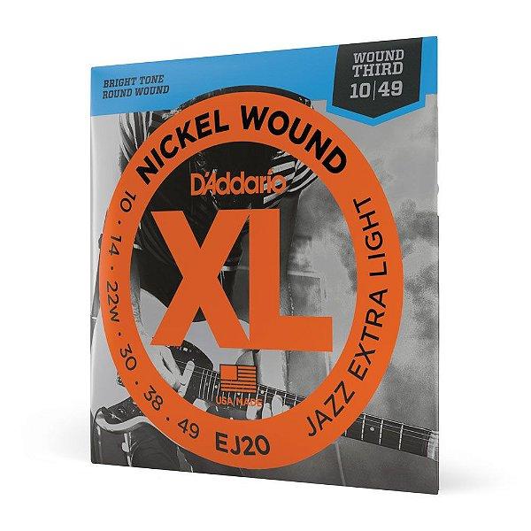 Encord Guitarra .010 3ª Encap D'Addario XL Nickel Wound EJ20