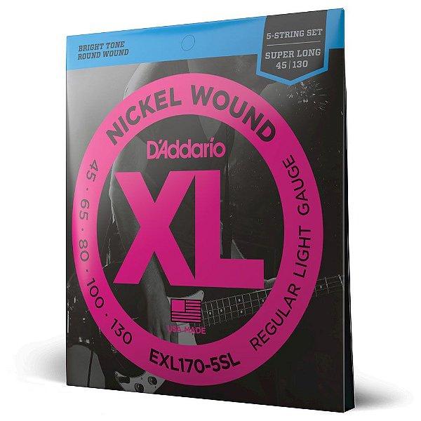 Encord Baixo 5C .045 D'Addario XL Nickel Wound EXL170-5SL
