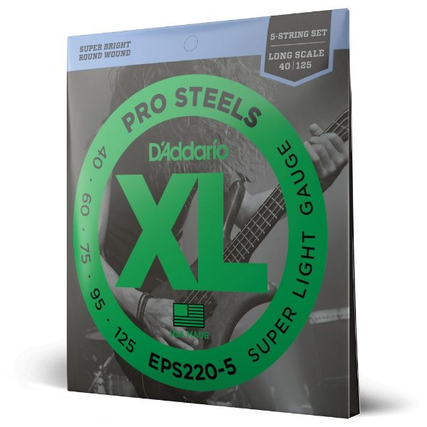 Encordoamento Baixo 5C .040 D'Addario XL ProSteels EPS220-5