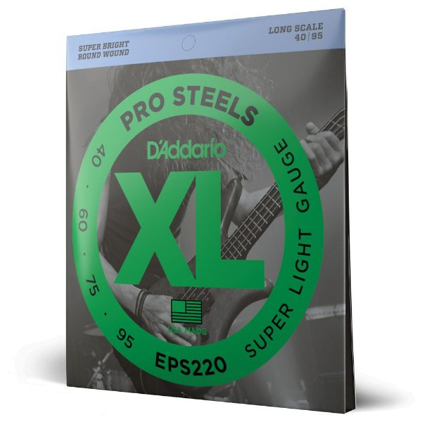 Encordoamento Baixo 4C .040 D'Addario XL Pro Steels EPS220