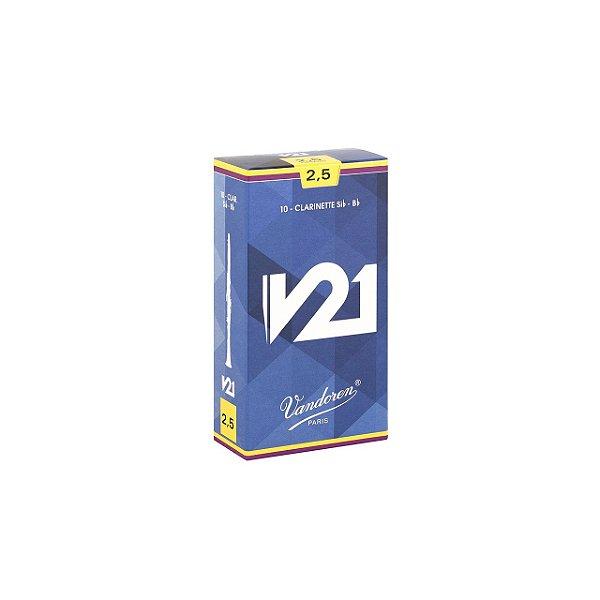 Palheta V21 2,5 P/clarinete Sib Cx C/10 Cr8025 Vandoren