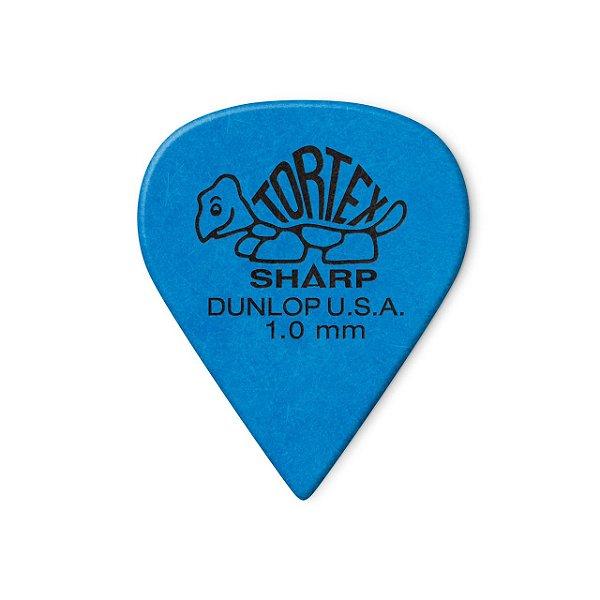 Palheta Tortex Sharp 1mm Azul Pct C/72 412r1.0 Dunlop