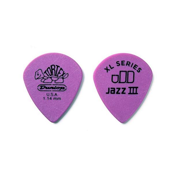 Palheta Tortex Jazz Iii Xl 1.14mm Pct C/12 498p1.14 Dunlop