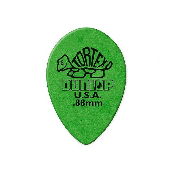 Palheta Tortex Small Teardrop 0,88mm Verde Pct C/36 423r.88 Dunlop