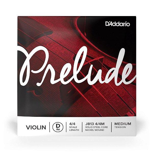 Corda Avulsa Para Violino RE Com Cobertura De Niquel D'Addario Prelude J813 4/4M